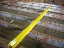 シャッター保護パイプ:工事中写真