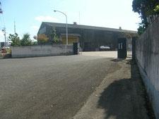門柱のRC基礎による補強:工事前写真
