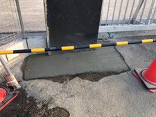門柱のRC基礎による補強:工事後写真