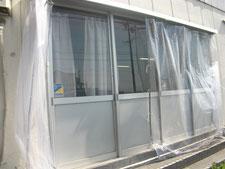 テントカーテンの新設:工事後写真