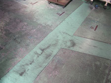 床クラックの補修作業:工事前写真