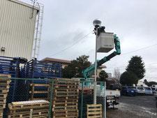 街路灯改修工事:工事中写真