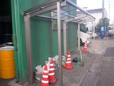 サイクルポートの新設:工事中写真