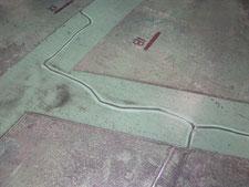 床クラックの補修作業:工事後写真