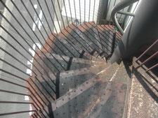 踏み面ゴム板の撤去処分作業:工事前写真