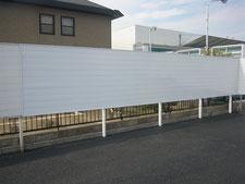 目隠しフェンスの工事写真