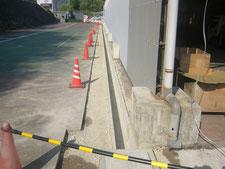 雨水の浸入を遮断:工事中写真