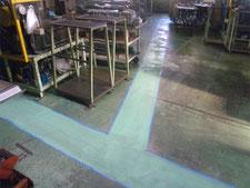 塗床防滑仕上げ:工事中写真