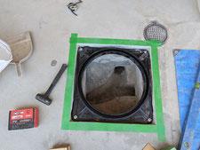 店舗木製囲い塀の補強:工事中写真