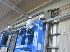 電動シャッターの取替え:工事中写真