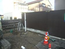 駐車場拡張工事:工事中写真