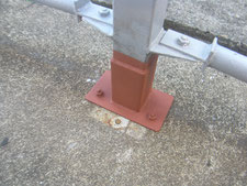 鉄骨柱の柱脚補修:工事後写真