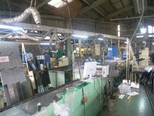照明吊り鉄骨の新設:工事前写真