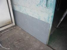 ボンデ鋼板の増し張り:工事中写真