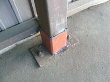 柱脚補修工事:工事中写真