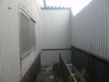 屋根付き電設架台の製作:工事前写真