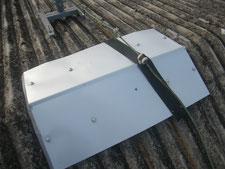 スレート屋根棟部板金カバー:工事後写真