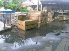 舗装の水たまりを解消:工事前写真