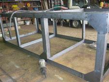 長尺板用台車の製作:工事中写真