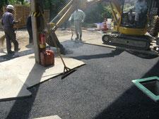 舗装の水たまりを解消:工事中写真
