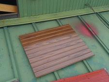 リブ波トタン張り:工事中写真