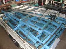 収納棚の解体撤去:工事中写真