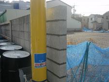 ブロック塀の工事写真