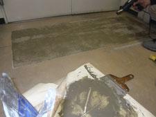床の不陸調整:工事中写真