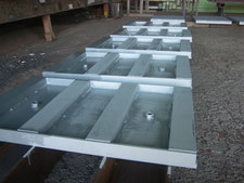 鉄製溝蓋の設置:工事中写真
