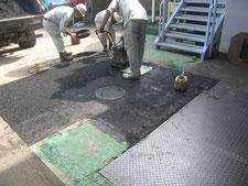 ピット及び舗装の改修:工事中写真
