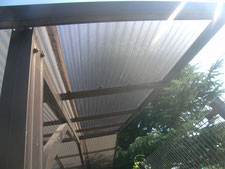 ポリカ屋根の張り替え:工事後写真