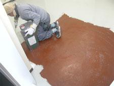工場内塗り床:工事中写真
