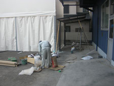カーポートの移設:工事中写真