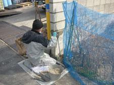 ブロック修理:工事中写真