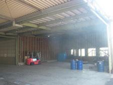 間仕切り解体と新設:工事前写真