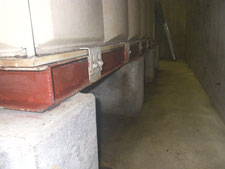 現場溶接による鉄骨架台の補強:工事後写真