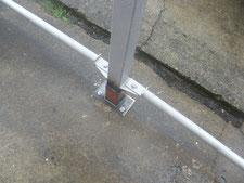 鉄骨柱の柱脚補修:工事中写真