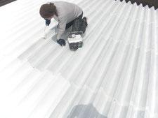 遮熱塗装による暑さ対策工事:工事中写真