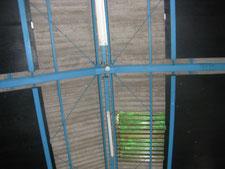 彩光屋根をスレート屋根に葺き替え:工事前写真