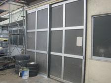 アルミ製ハンガードアの改修:工事後写真