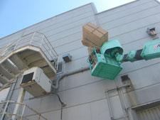 ダクトホースの取り替え:工事中写真