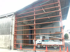 雨避け壁:工事中写真
