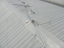 TVアンテナの撤去作業:工事中写真
