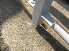鉄骨柱の柱脚補修:工事前写真