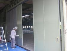 間仕切り解体と新設:工事中写真