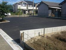 駐車場を新設:工事中写真