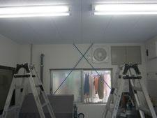 テントカーテンの新設:工事前写真