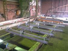 工場内中二階の新設:工事中写真