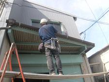 軒樋と竪樋の取替(修復):工事中写真