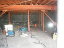 鉄骨による床補強:工事中写真